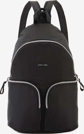 Pacsafe Rucksack in silbergrau / schwarz, Produktansicht