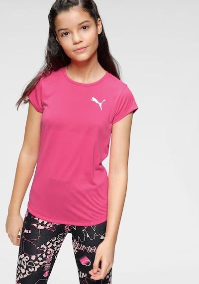 PUMA Sport-Shirt in pink / weiß: Frontalansicht