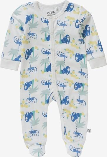 Pippi Schlafanzug mit Füßen in weiß, Produktansicht