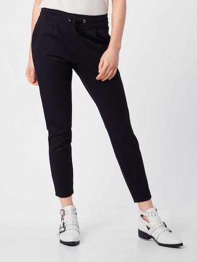 fekete JACQUELINE de YONG Élére vasalt nadrágok 'Pretty', Modell nézet