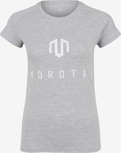 MOROTAI Sport-Shirt 'NAKA' in hellgrau / weiß, Produktansicht
