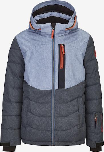 KILLTEC Skijacke 'Eloi' in taubenblau / hellblau / orange, Produktansicht