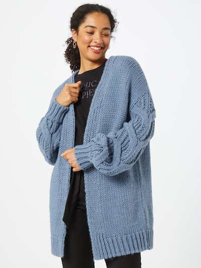 Guido Maria Kretschmer Collection Strickjacke 'Megan' in taubenblau, Modelansicht