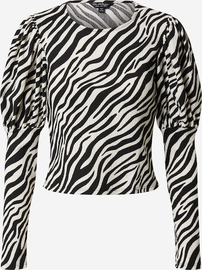 Miss Selfridge Shirt 'PRINTED 80S SLV TOP' in de kleur Zwart, Productweergave