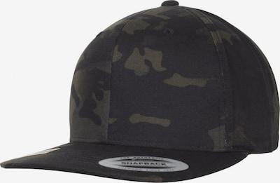 Flexfit Cap in navy / khaki / schwarz, Produktansicht