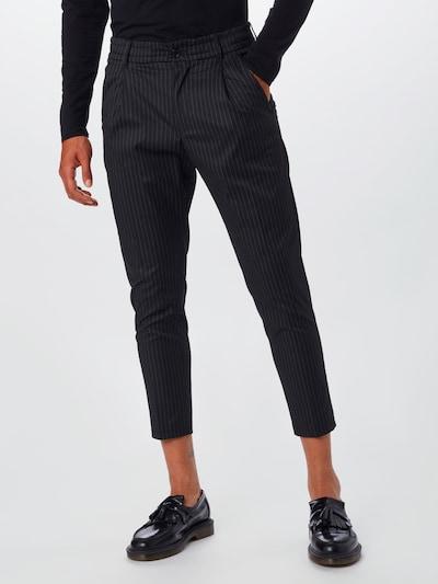 DRYKORN Plisované nohavice 'Chasy' - čierna / biela: Pohľad spredu