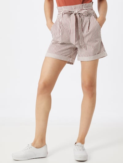 VERO MODA Kalhoty 'EVA' - červená / bílá, Model/ka