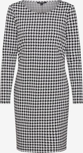 COMMA Obleka | črna / bela barva: Frontalni pogled