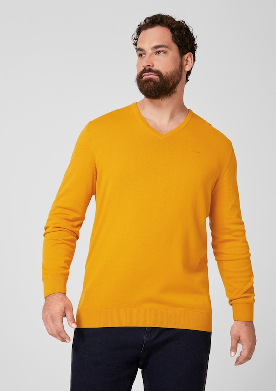 s.Oliver Pullover in orange: Frontalansicht