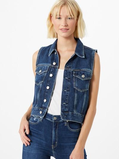 Calvin Klein Jeans Bodywarmer in de kleur Blauw denim, Modelweergave
