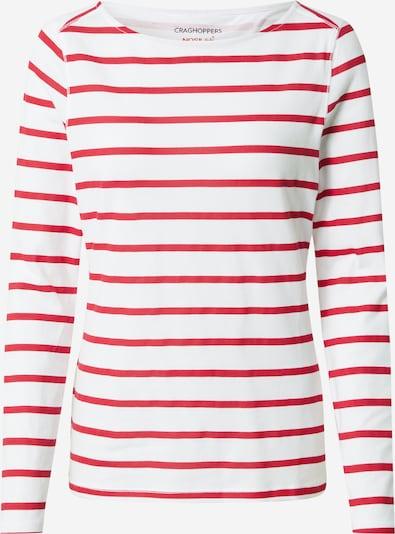 CRAGHOPPERS Sportshirt 'Erin' in rot / weiß, Produktansicht