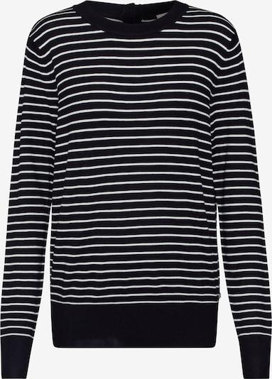 TOM TAILOR DENIM Pullover in schwarz / weiß, Produktansicht