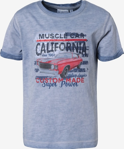SALT AND PEPPER T-Shirt , Auto in blau, Produktansicht