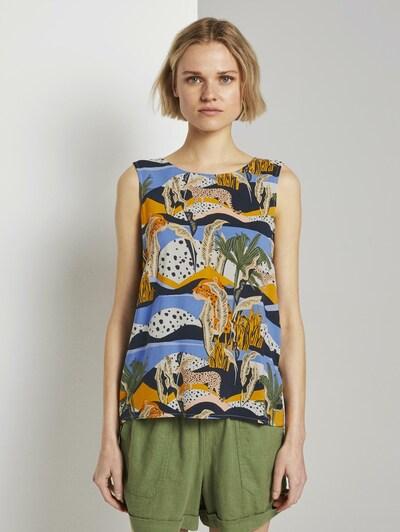 TOM TAILOR DENIM Bluse in mischfarben, Modelansicht