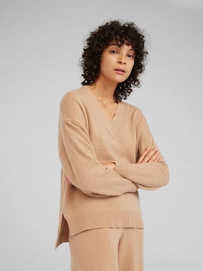 EDITED Pullover mit Kaschmiranteil 'Palila' in camel, Modelansicht