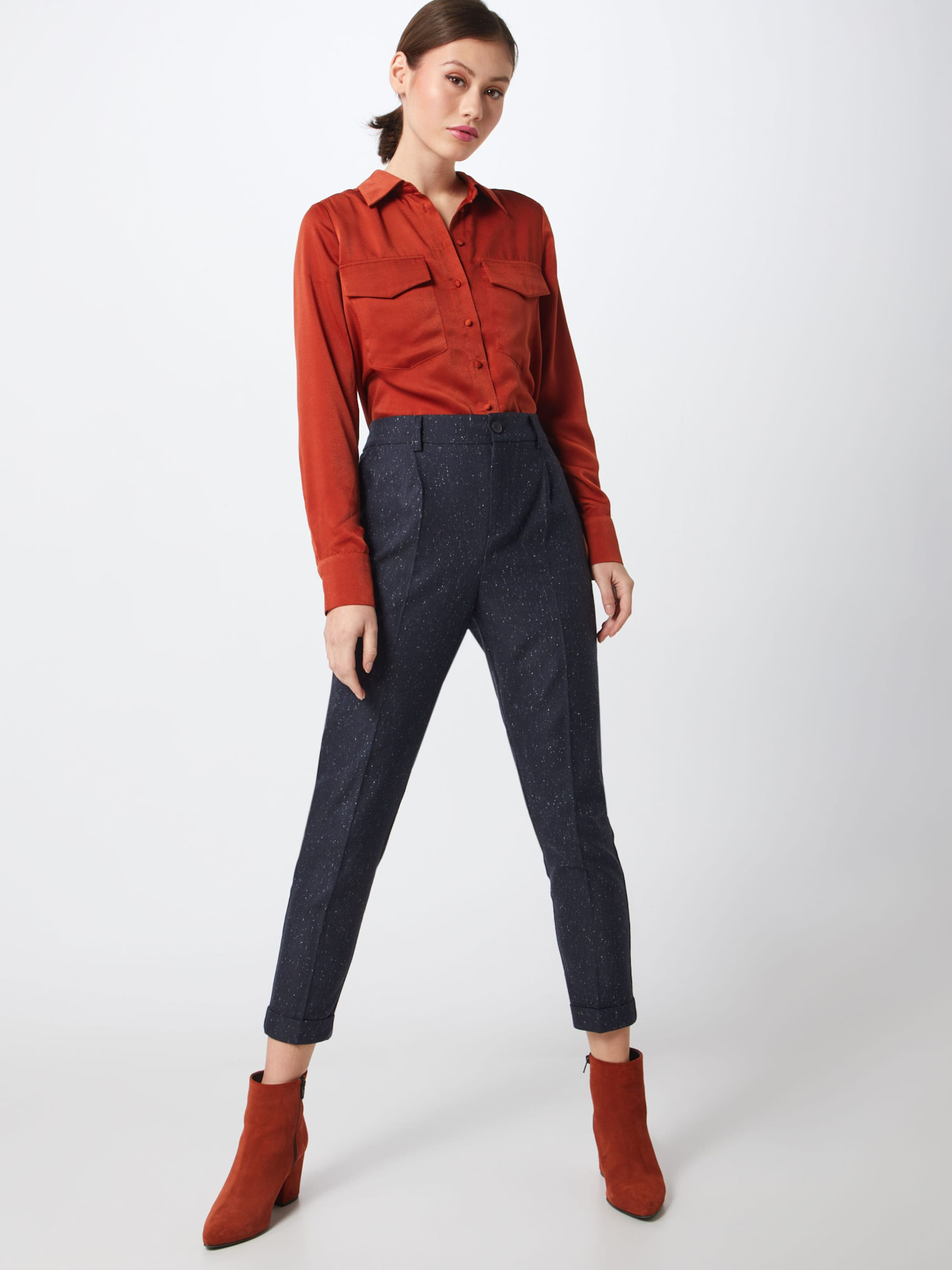 'tweed À Bleu chino' Label En oliver Red Marine Plis Pantalon S LqzMpGVSU