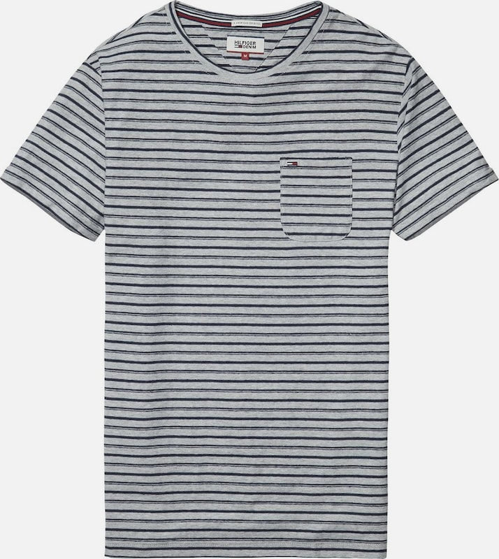 Tommy Jeans Hilfiger Denim T-Shirt 'THDM STRIPE CN KNIT S/S 17'