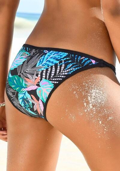 VENICE BEACH Bikini-Hose 'Smash' in blau / türkis / schwarz, Modelansicht