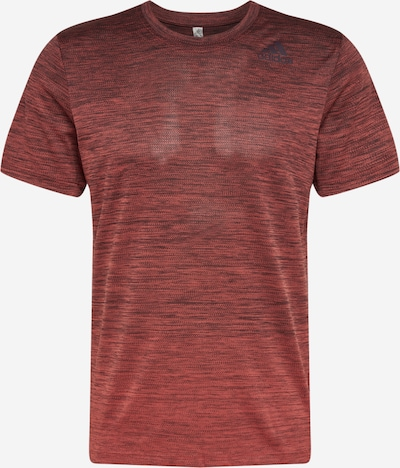 ADIDAS PERFORMANCE T-Shirt in rotmeliert: Frontalansicht