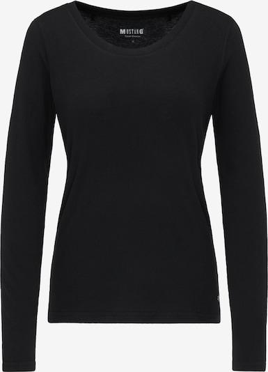 MUSTANG T-Shirt ' Basic-Longsleeve ' in schwarz, Produktansicht