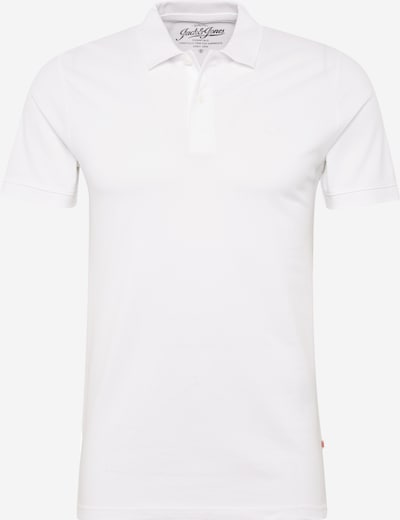 JACK & JONES Shirt 'JJEBASIC POLO SS' in de kleur Wit, Productweergave