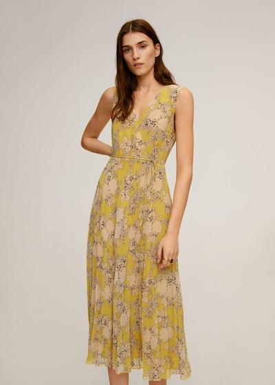 MANGO Kleid in gelb, Modelansicht