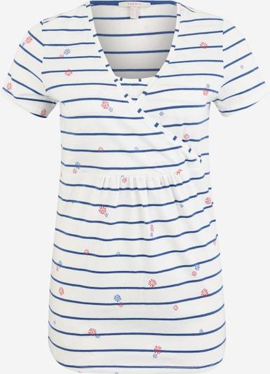 Esprit Maternity Blouse 'T-shirt nursing ss yd/aop' in de kleur Blauw / Wit, Productweergave