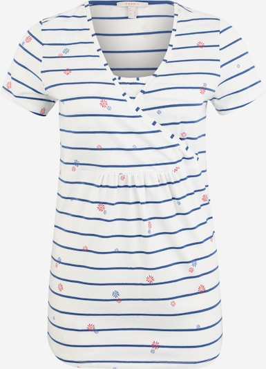 Esprit Maternity Bluse 'T-shirt nursing ss yd/aop' in blau / weiß, Produktansicht