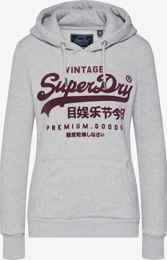 Superdry Sweat-shirt 'PREMIUM GOODS HERRINGBONE ENTRY HOOD' en gris, Vue avec produit