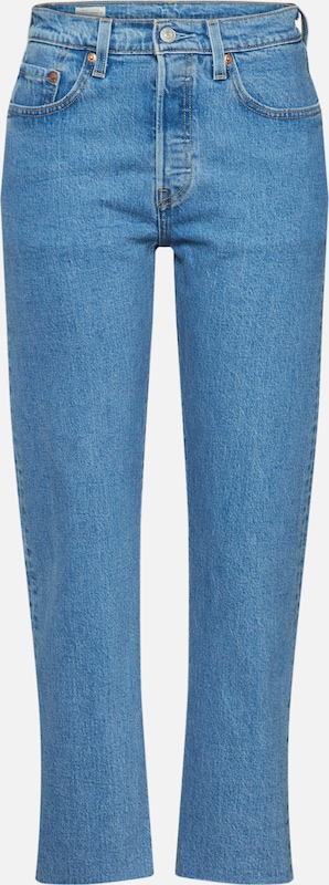 LEVI'S Jeans '501® CROP' in blue denim, Produktansicht