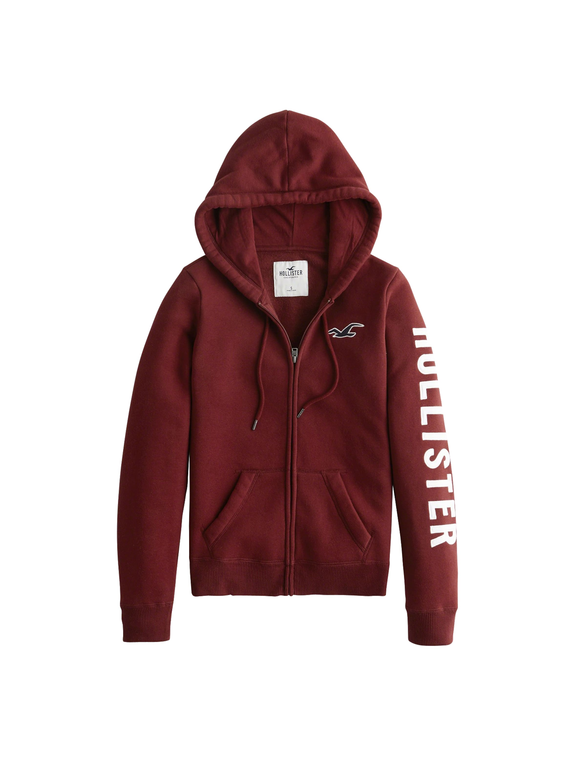 Hollister De Bourgogne Survêtement Fz' 'timeless Veste Core Logo Tech En 9D2HWIE