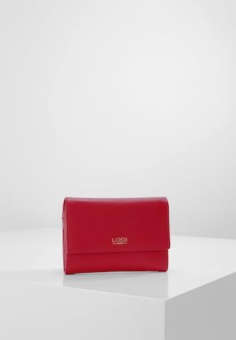 L.CREDI Geldbörse 'Evelyn' in Rot