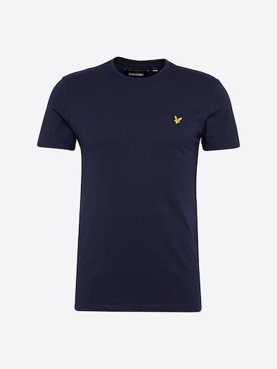 Lyle & Scott T-Shirt en bleu foncé / jaune, Vue avec produit
