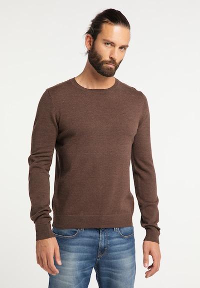 DREIMASTER Pullover 'Vintage' in braun: Frontalansicht