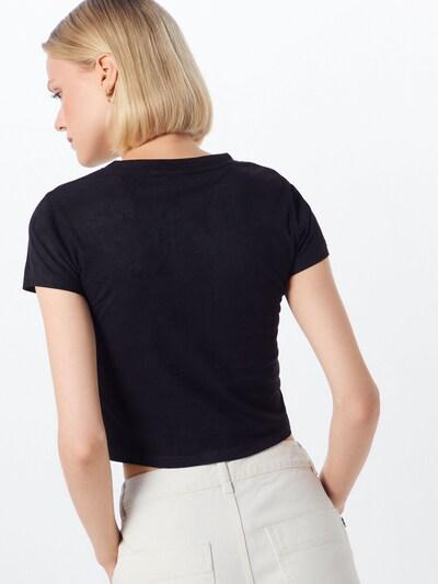 Urban Classics Majica 'Peached Rib'   črna barva: Pogled od zadnje strani