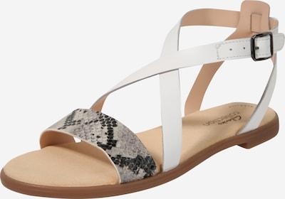 CLARKS Sandales à lanières 'Bay Rosie' en gris / blanc, Vue avec produit