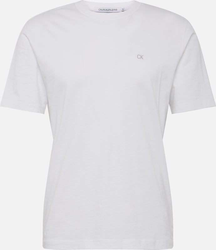 En Klein Blanc Tee' Calvin Embroidery Jeans T 'ckj Reg Fit shirt O8nwPk0