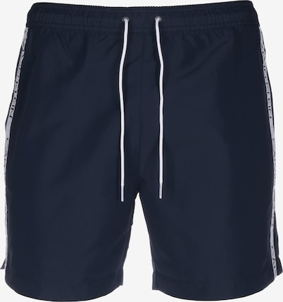 Calvin Klein Swimwear Badeshorts in taubenblau / weiß, Produktansicht