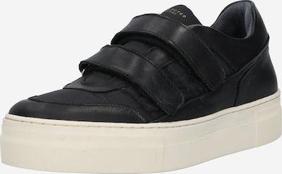 SELECTED FEMME Sneaker 'HAILEY VELCRO' in schwarz / weiß: Frontalansicht