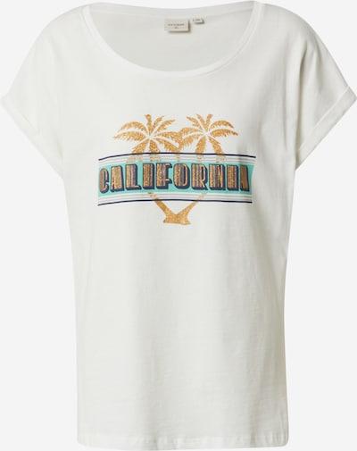 Cream T-Shirt 'UllaCR T-shirt BCI' in blau / gelb / weiß, Produktansicht