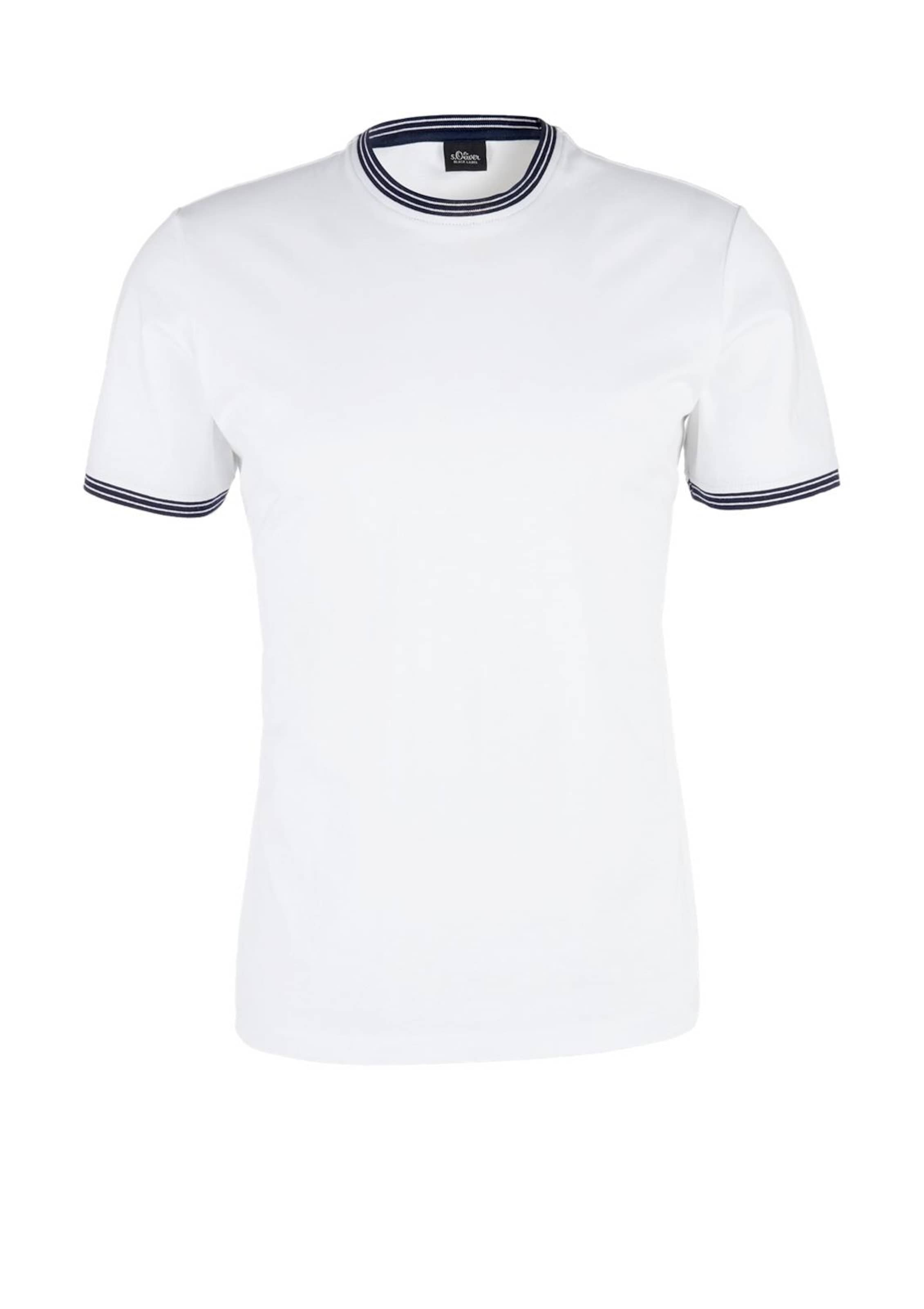 Shirt Black SchwarzWeiß oliver S Label In y80mnwNOvP