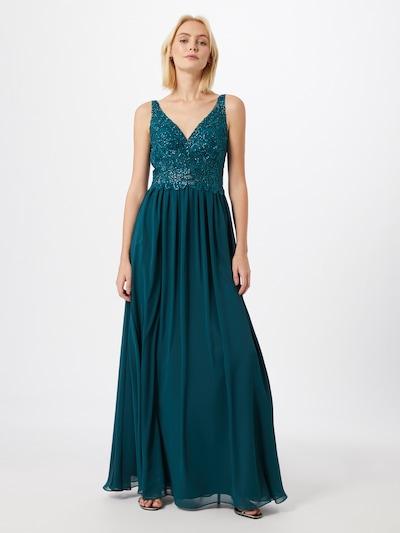 mascara Společenské šaty 'HOT FIX LACE' - modrá, Model/ka