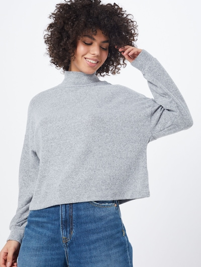 NEW LOOK Pullover 'C+S BRUSHED OS BOXY' in grau, Modelansicht