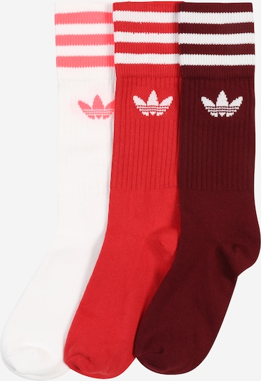 ADIDAS ORIGINALS Socken 'Solid Crew' in rot / bordeaux / weiß, Produktansicht