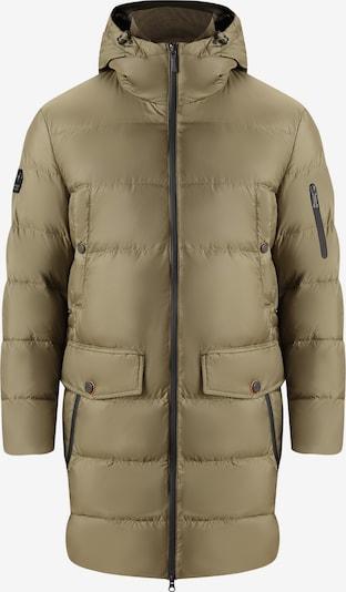 Finn Flare Winterjas in de kleur Olijfgroen, Productweergave