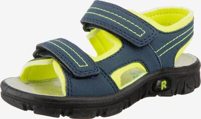myToys-COLLECTION Sandale in navy / neongelb / weiß, Produktansicht