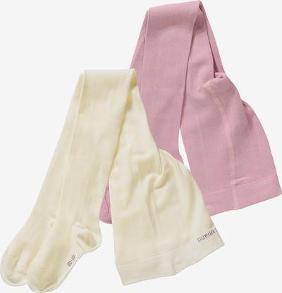 camano Strumpfhose in pastellgelb / rosé, Produktansicht