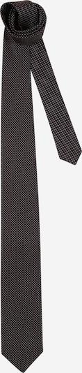 HUGO Cravate en brun foncé / blanc, Vue avec produit