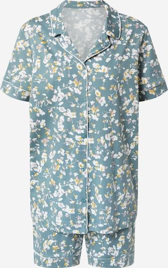 CALIDA Pyjama en menthe / mélange de couleurs / blanc, Vue avec produit