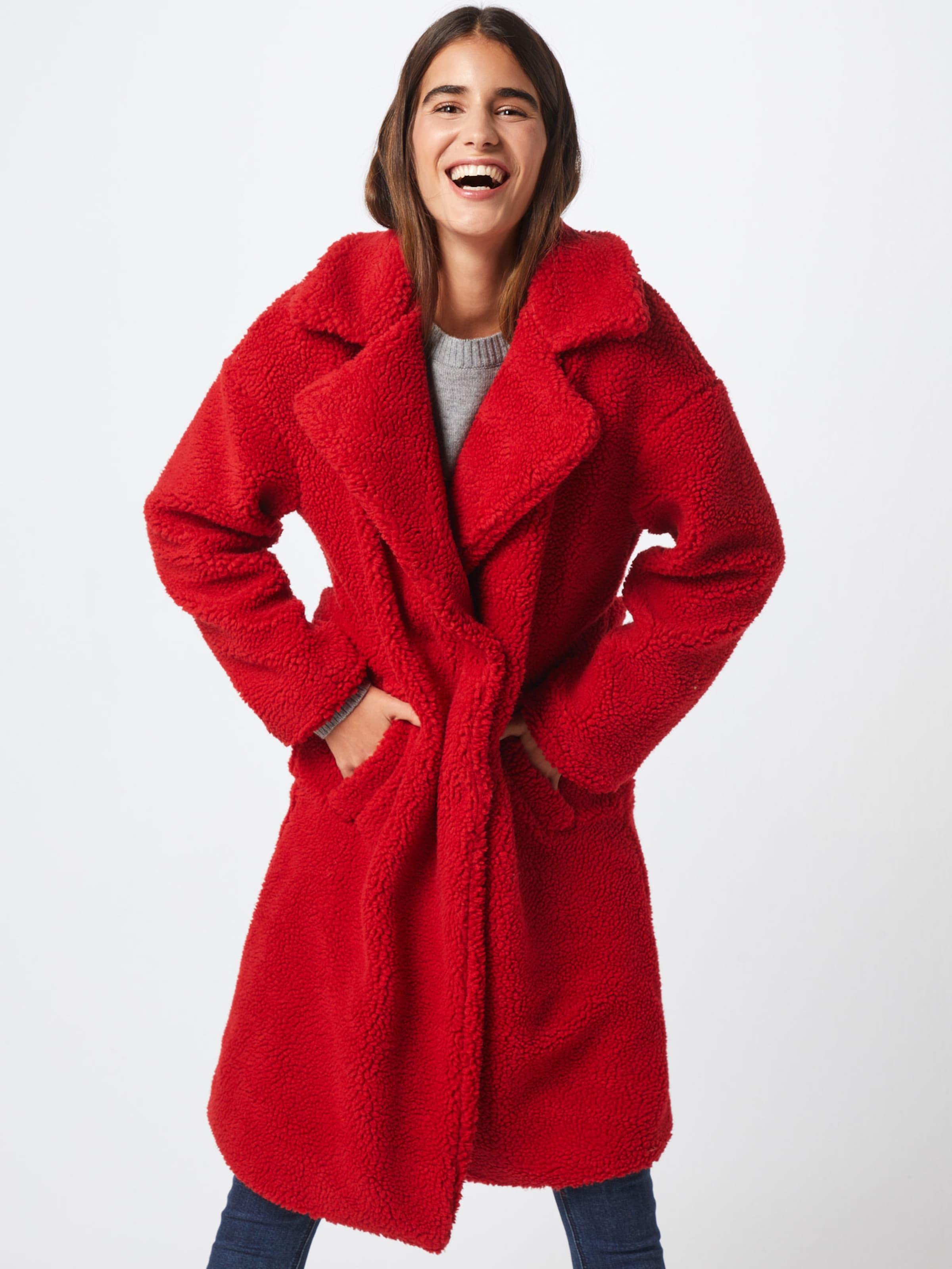 Manteau Coat' En Na kd Rouge 'teddy D'hiver zqMGSpUV
